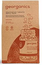 Perfumería y cosmética Tabletas de enjuague bucal con aceite de naranja orgánico - Georganics Mouthwash Tablets Refill Pack Orange (recambio)