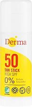 Perfumería y cosmética Stick protector solar con aloe vera & vitamina E - Derma Sun Sun Stick High SPF50