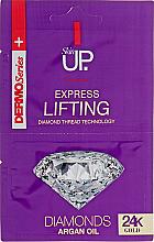 Perfumería y cosmética Mascarilla facial reafirmante con polvo de diamante, partículas de oro y aceite de argán - Verona Laboratories DermoSerier Skin Up Express Lifting Diamonds 24k Gold