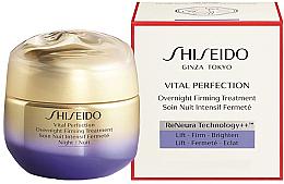 Perfumería y cosmética Crema de noche con extracto botánico de odoriko y agua de rosas búlgaras - Shiseido Vital Perfection Overnight Firming Treatment