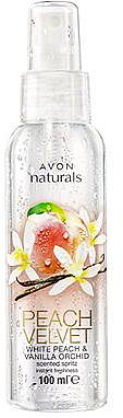 Spray corporal con aroma a melocotón y vainilla - Avon Naturals Peach