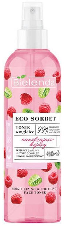 Tonico facial hidratante con extracto de frambuesa - Bielenda Eco Sorbet Moisturizing & Soothing Face Toner