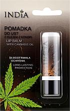 Perfumería y cosmética Bálsamo labial con aceite de cañamo - India