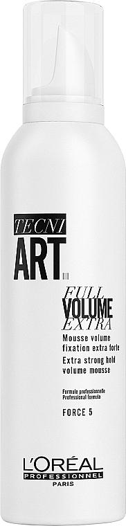 Espuma para volumen del cabello, fijación fuerte - L'Oreal Professionnel Tecni.art Full Volume Extra — imagen N1