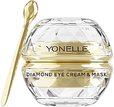 Perfumería y cosmética Mascarilla en crema para contorno de ojos con oro - Yonelle Diamond Eye Cream & Mask