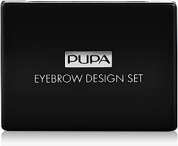 Perfumería y cosmética Set para definición de cejas con espejo - Pupa Design Eyebrow