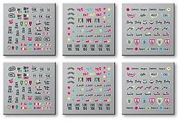 Perfumería y cosmética Stickers para uñas, 42300 - Top Choice Words Neon