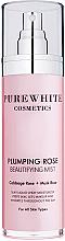 Perfumería y cosmética Bruma facial hidratante con agua de rosas orgánica y aceite de rosa almizclera - Pure White Cosmetics Plumping Rose Beautifying Mist