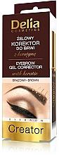 Perfumería y cosmética Gel corrector de cejas con queratina - Delia Cosmetics Eyebrow Gel