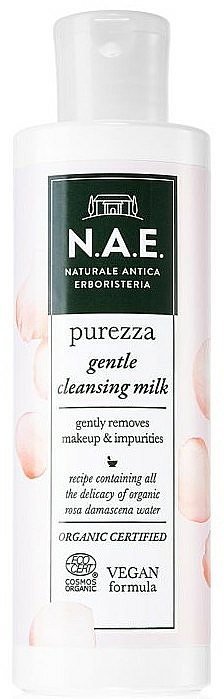 Leche limpiadora facial con aloe vera y agua de rosa damascena - N.A.E. Purezza Gentle Cleansing Milk