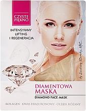 Perfumería y cosmética Mascarilla facial con colágeno, ácido hialurónico y aceite de rosa - Czyste Piekno Diamond Face Mask