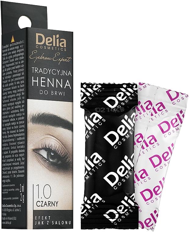 Tinte negro para cejas - Delia Brow Dye Henna Traditional Black