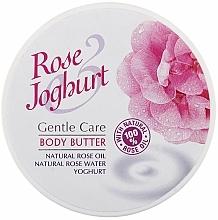 Perfumería y cosmética Manteca corporal con aceite natural de rosa & yogur para pieles secas y sensibles - Bulgarian Rose Body Butter Rose Joghurt