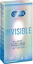 Perfumería y cosmética Preservativos extra largos, 10uds. - Durex Invisible Extra Large
