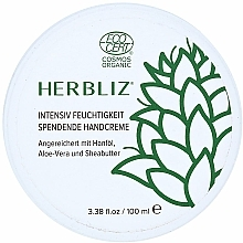 Perfumería y cosmética Crema de manos de hidratación intensa con jugo de aloe vera y manteca de karité - Herbliz