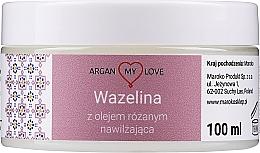 Perfumería y cosmética Vaselina con aceite de rosa para rostro y cuerpo - Argan My Love