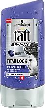 Perfumería y cosmética Gel de fijación fuerte - Schwarzkopf Taft Looks Titan Look Power Gel No Stickness-No Residues