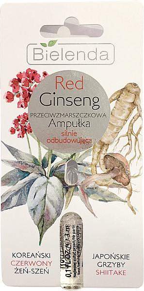 Ampolla facial antiarrugas con raíz de ginseng rojo - Bielenda Red Ginseng