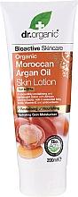 Perfumería y cosmética Loción corporal revitalizante con aceite de argán marroquí - Dr. Organic Bioactive Skincare Organic Moroccan Argan Oil Skin Lotion
