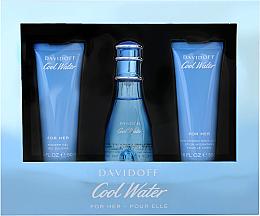 Perfumería y cosmética Davidoff Cool Water Woman - Set (edt/50ml + loción corporal/50ml + gel de ducha/50ml)