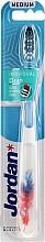 Perfumería y cosmética Cepillo de dientes, dureza media, pluma azul-roja - Jordan Individual Clean Medium