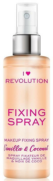 Spray fijador de maquillaje refrescante e hidratante con aroma a vainilla dulce & coco - I Heart Revolution Fixing Spray Vanilla & Coconut