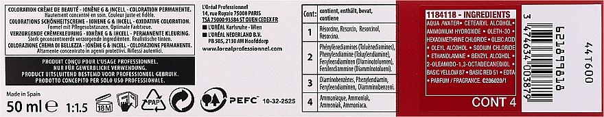 Tinte en crema para cabello - L'Oreal Professionnel Majirel/Majicontrast (sin oxidante incluido) — imagen N3