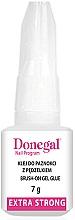 Perfumería y cosmética Pegamento para uñas postizas con pincel - Donegal Brush-On Gel Glue Extra Strong