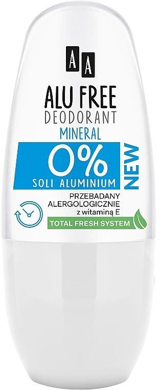 Desodorante roll-on, sin parabenos & alcohol - AA Roll-on Alu Free Mineral