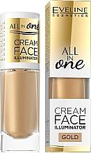 Perfumería y cosmética Iluminador facial cremoso - Eveline Cosmetics All In One Cream Face Illuminator
