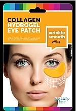 Perfumería y cosmética Parches de hidrogel para ojos con colágeno natural, oro 24K y ácido hialurónico, antiarrugas - Beauty Face Collagen Hydrogel Eye Mask