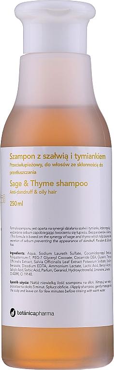 Champú con extracto de salvia y tomillo - Botanicapharma Sage & Thyme Shampoo