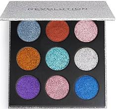 Perfumería y cosmética Paleta de sombras de ojos glitter - Makeup Revolution Pressed Glitter Palette Illusion