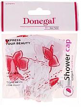 Perfumería y cosmética Gorro de ducha blanco con flores roas, 9298 - Donegal