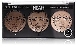Perfumería y cosmética Paleta de contorno facial - Hean Pro-Countour Palette