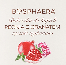 Perfumería y cosmética Bomba de baño efervescente en forma de cupcake con aroma a granada y peonia - Bosphaera