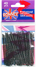 Perfumería y cosmética Horquillas de moño, negro 70 mm, 40 uds. - Ronney Professinal Curly Hairpins