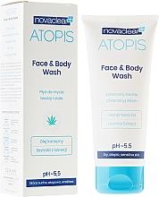 Perfumería y cosmética Gel de limpieza facial y corporal con aceite de semilla de cáñamo y extracto de regaliz - Novaclear Atopis Face&Body Wash