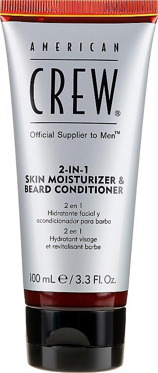 Crema hidrtante y acondicionador para barba con queratina - American Crew Official Supplier to Men 2In1 Skin Moisturizer & Beard Conditioner