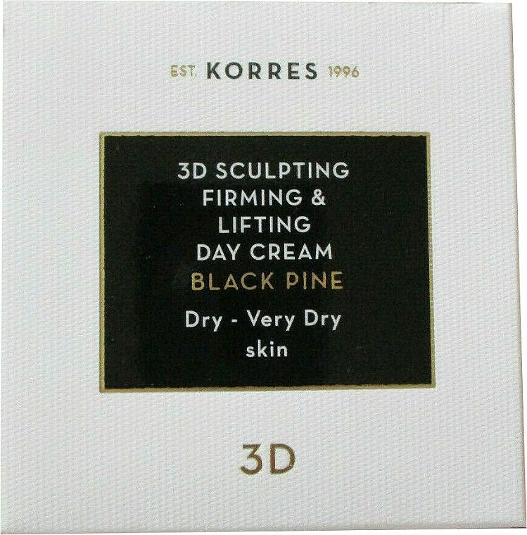 Crema de día reafirmante con aceite de almendras dulces y extracto de pino salgareño - Korres 3D Scuplting, Firming & Lifting Day Cream Dry And Very Dry Skin