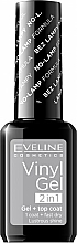 Perfumería y cosmética Esmalte de uñas y top coat, efecto gel - Eveline Cosmetics Vinyl Gel 2In1 Gel+Top Coat