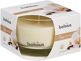 Perfumería y cosmética Vela aromática en tarro, vainilla 63/90 mm - Bolsius True Scents Candle