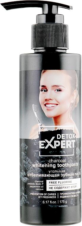 Pasta dental blanqueadora con carbón activado, sin flúor - Detox Expert Charcoal Whitening Toothpaste