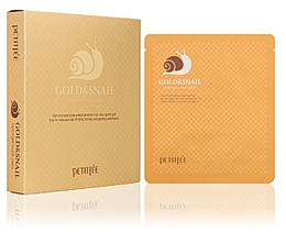 Perfumería y cosmética Mascarilla facial hidrogel con partículas de oro y babas de caracol - Petitfee & Koelf Gold & Snail Hydrogel Mask Pack