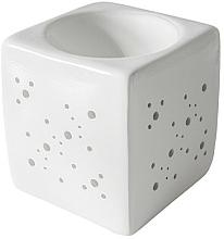 Perfumería y cosmética Lámpara aromática cuadrada, blanca - Flagolie By Paese Cube Fireplace White