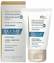 Perfumería y cosmética Crema de manos fotoenvejecimiento y antimanchas SPF 50+ - Ducray Melascreen Global Hand Care SPF 50+