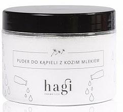 Perfumería y cosmética Polvo de baño natural con manteca de karité, aceite de almendras y leche de cabra - Hagi Bath Puder