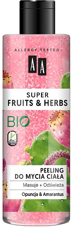 Exfoliante corporal con tuna y amaranto - AA Super Fruits & Herbs