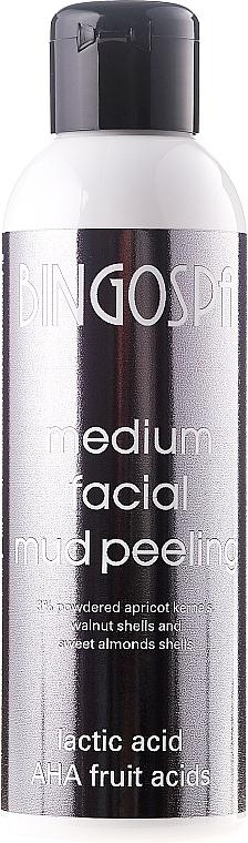 Exfoliante facial con granos de albaricoque en polvo & ácido láctico - BingoSpa Medium Facial Mud Peeling