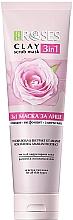 Perfumería y cosmética Mascarilla exfoliante facial de arcilla con agua de rosas y aceite de amaranto - Nature Of Agiva Roses Pink Clay 3 In 1 Scrub Mask